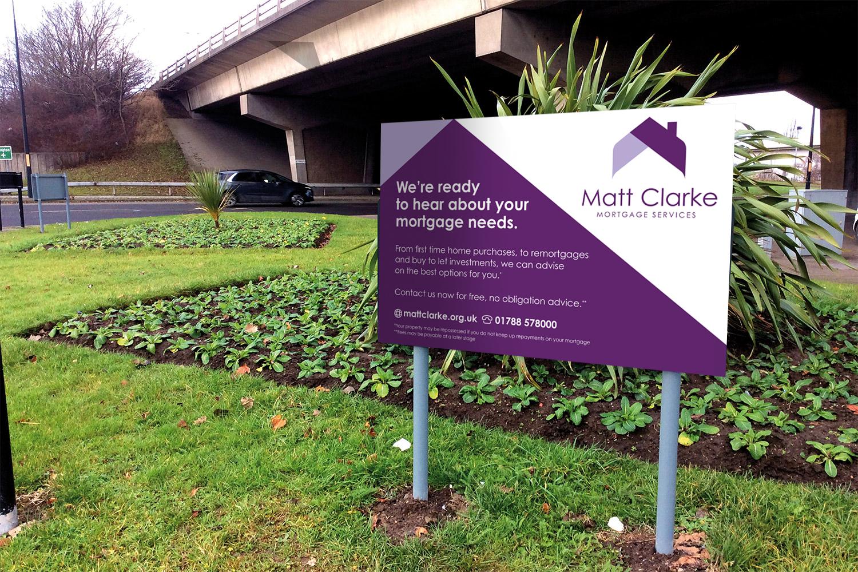 Matt Clarke Roundabout Sign